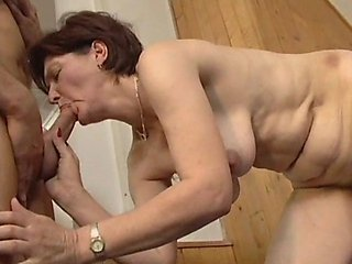 Elaine was doing her daily calesthenics when she was approached by her much younger personal trainer.He insisted on showing her a better way to get he