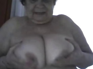 Webcam granny shows her tits