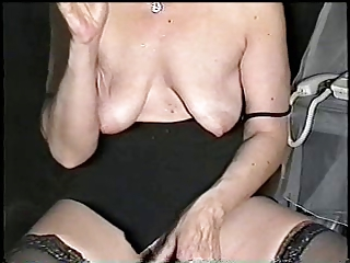 Smoking Mature with Saggy Little tits 05